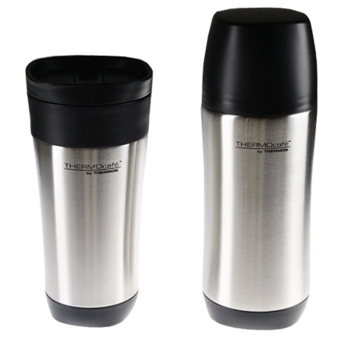 Thermos Thermocafe Tumbler & Bottle Stainless Steel Combo
