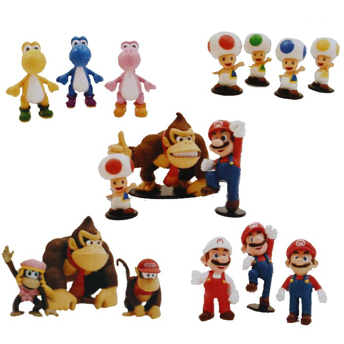 Super Mario Special Multi-Pack Mini Figure Collection (3 figures, random selection)