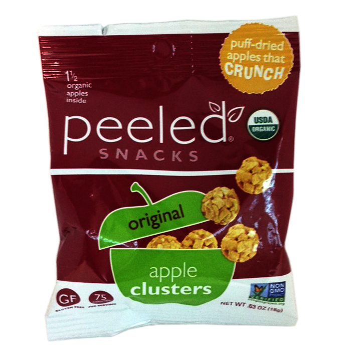 Peeled Apple clusters snack (NET WT .63oz, 18g)