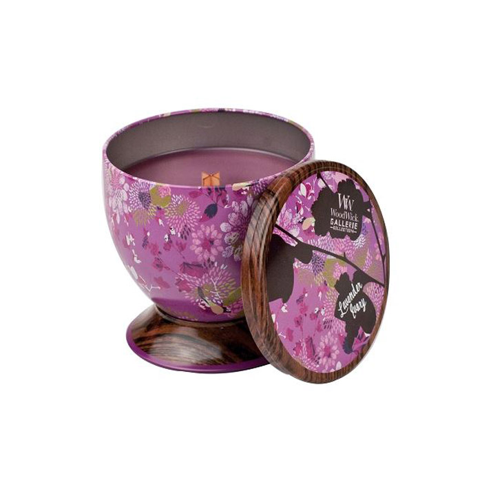 WoodWick GALLERIE Tin Candle: Lavender Ivory