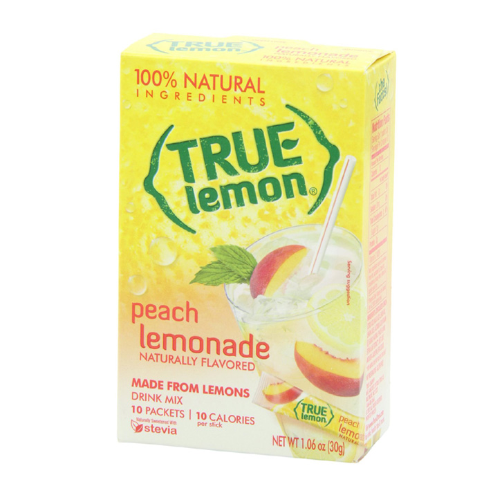 True Lemon: Peach Lemonade (10 Packets)