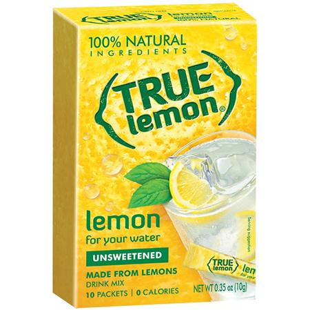 True Lemon: Lemon Unsweetened (10 Packets)