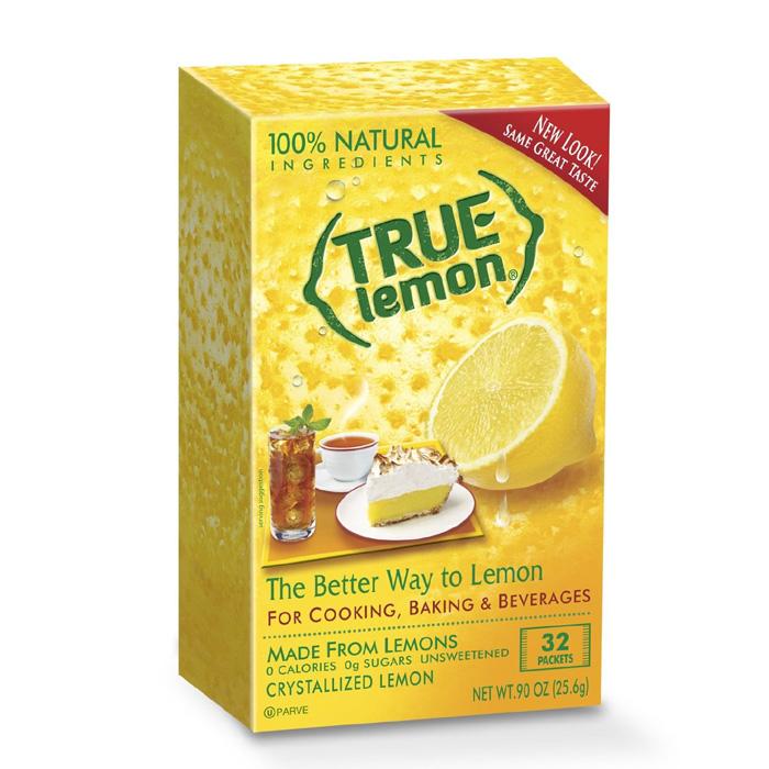 True Lemon Crystallized Lemon: Unsweetened (32 Packets)