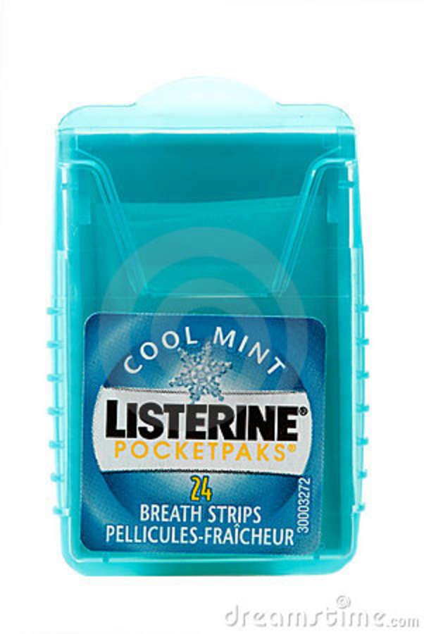 LISTERINE Pocketpak : COOL MINT (24 Breath Strips)