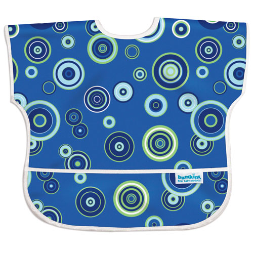 Bumkins Junior Bib: Blue Fizz (Size 1-3 yrs)