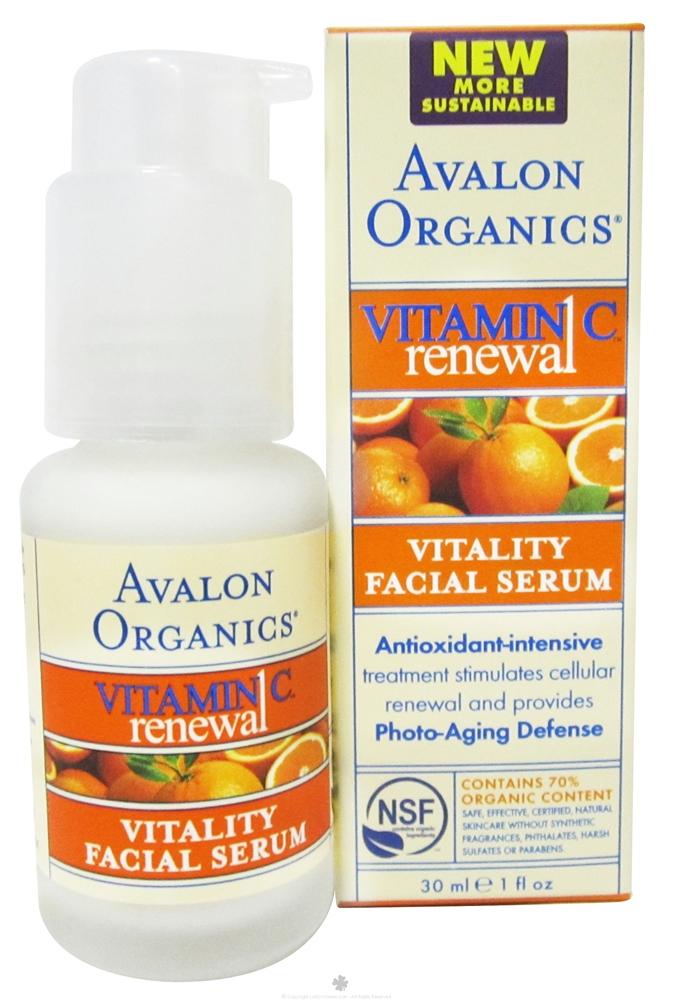 Avalon Organics Vitamin C Renewal Vitality Facial Serum (1 oz)