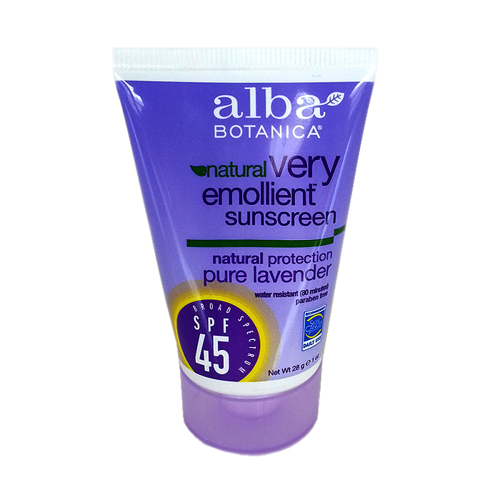 Alba Botanica Natural Very Emollient Sunscreen SPF 45: Pure Lavender (1 oz)