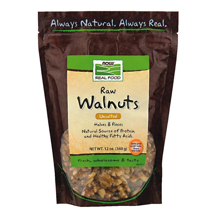 NOW Foods Walnuts: Raw Organic Unsalted (12 oz)