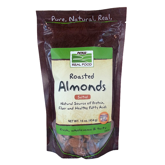 NOW Foods Almonds: Roasted & Salted (1 lb)