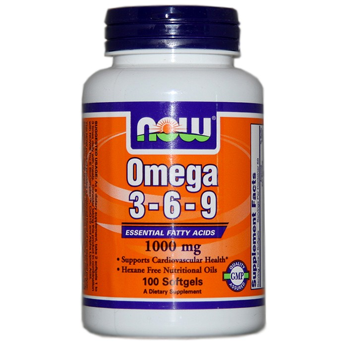 NOW Foods Omega 3-6-9 1000 mg (100 Softgels)