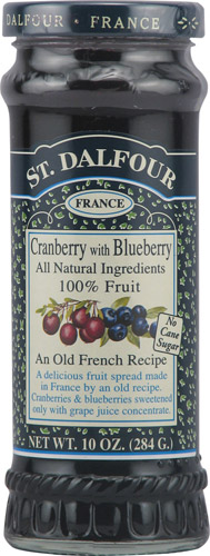 St. Dalfour 100% Fruit Spread: Cranberry & Blueberry (10 oz)