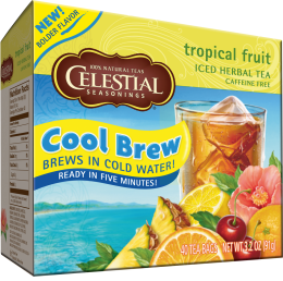 Celestial Cool Brew Iced Herbal Tea: Tropical Fruit (40 Tea Bags)