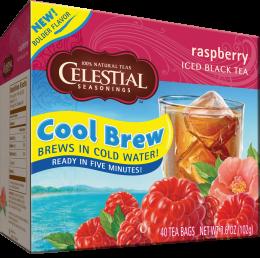 Celestial Cool Brew Iced Black Tea: Raspberry (40 Tea Bags)