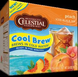Celestial Cool Brew Iced Black Tea: Peach (40 Tea Bags)