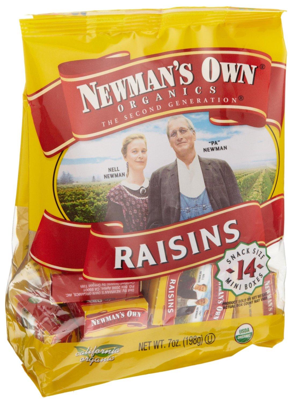 Newman's Own Organics California Raisins: Mini Boxes (14 Counts)