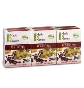 Made in Nature Naturally Sun-Dried Raisins (1.5 oz x 6)