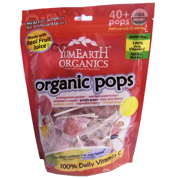 Yummy Earth Organic Assorted Lollipops Family Size (40+ Pops)