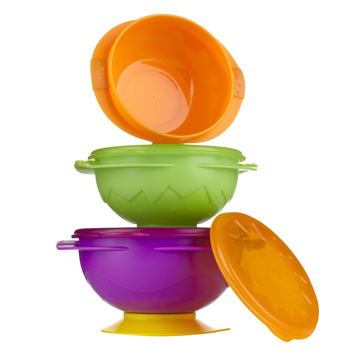 Sassy On-The-Go Snack Bowl Set -Colors May Vary