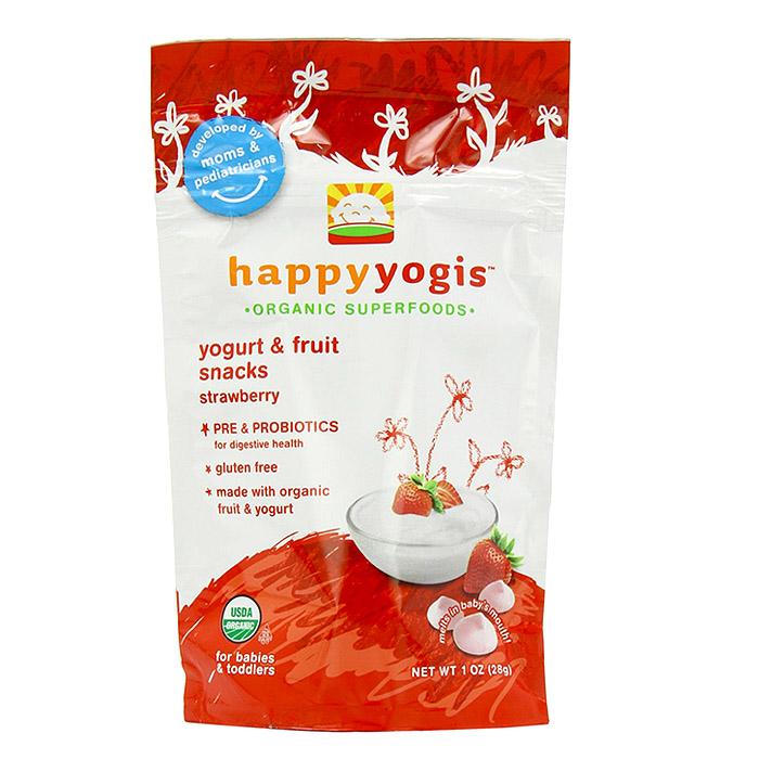 Happy Baby Organic Yogis Yogurt Snacks: Strawberry (1 oz)