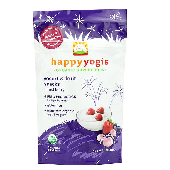 Happy Baby Organic Yogis Yogurt Snacks: Mixed Berry (1 oz)