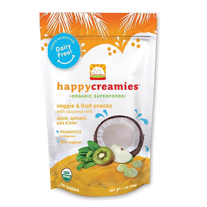 Happy Baby Organic Creamies: Kiwi, Spinach, Pea & Green Apple (1 oz)