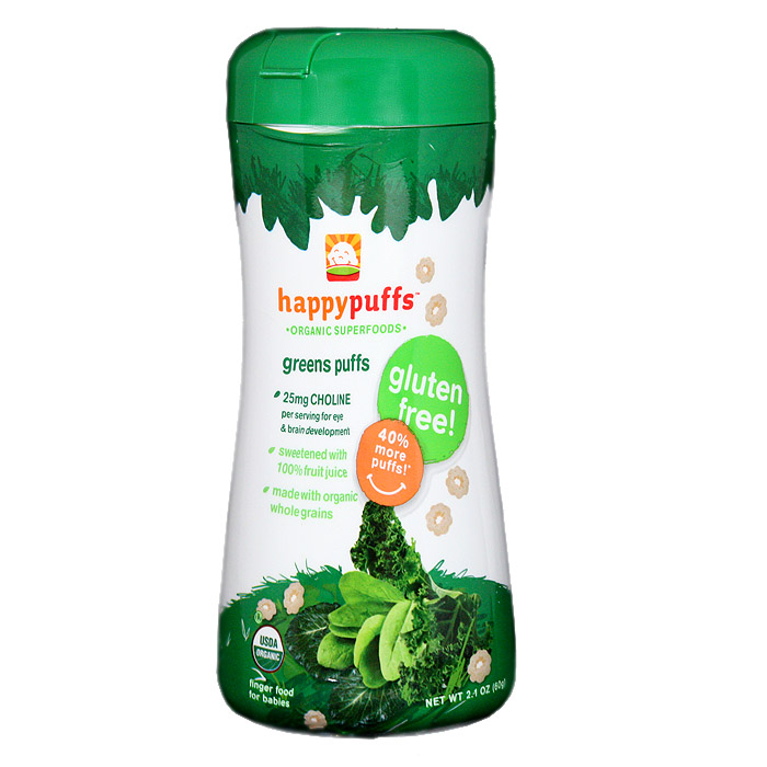 Happy Baby Organic Puffs: Greens (2.1 oz)