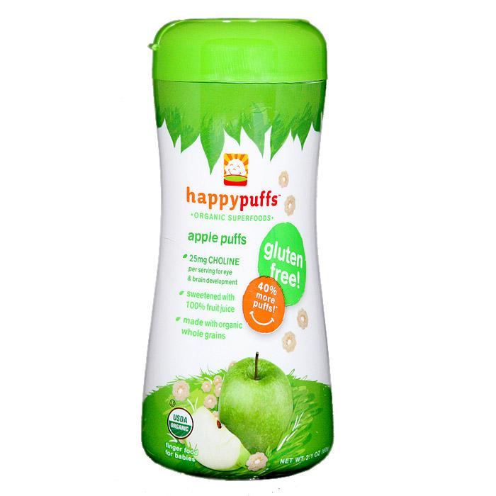 Happy Baby Organic Puffs: Apple (2.1 oz)