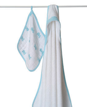 aden+anais Hide and Sea Hooded Towel & Washcloth Sets