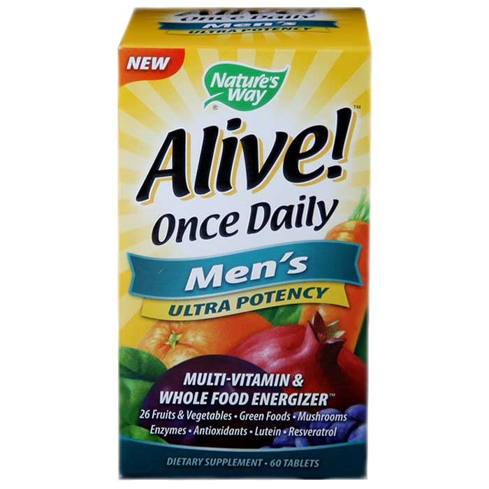 Nature's Way Alive! Men's Once Daily Multi-Vitamin (60 Tablets)