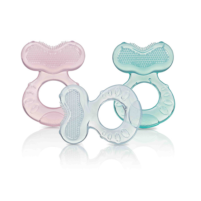 Nuby Silicone Teether with Bristles - Colors May Vary