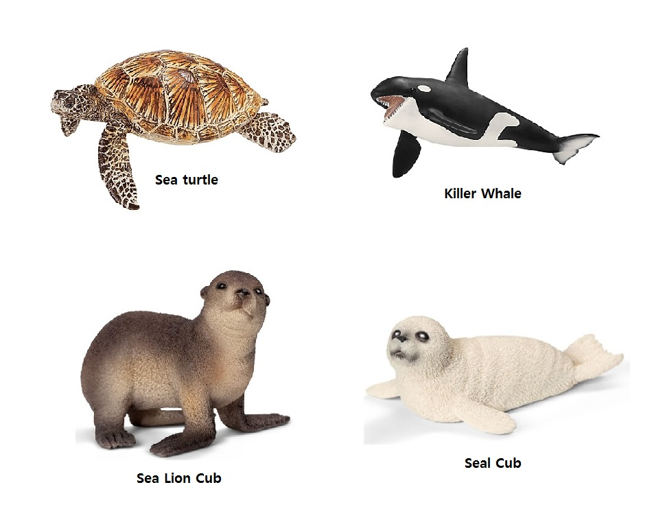 Schleich Ocean Life animal figures (4pk)