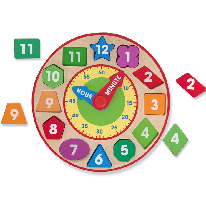 Melissa and Doug SHAPE SORTING CLOCK (Ages 3+)