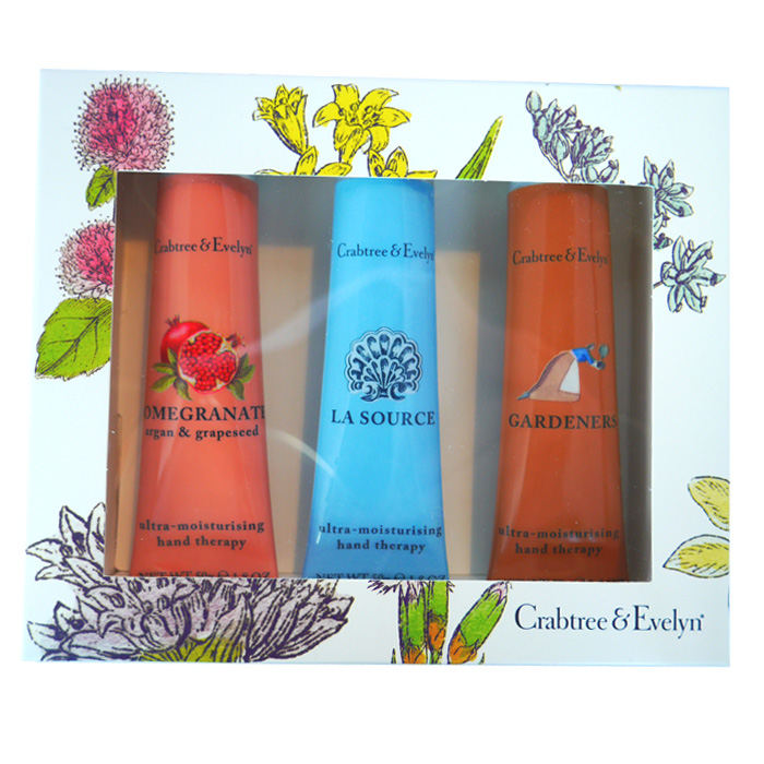 Crabtree & Evelyn Botanical Samplers Gift Set (Pomegranate, La Source, Gardeners, 50g, 1.8 oz)