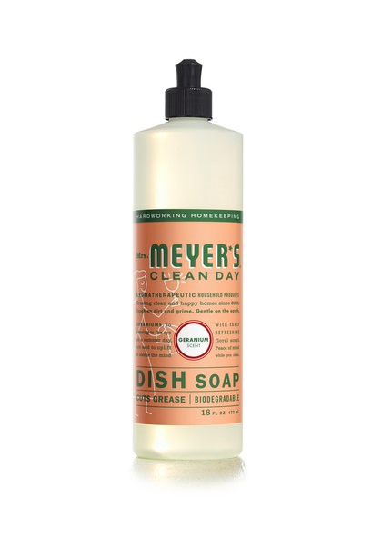 Mrs. Meyers Clean Day, Liquid Dish Soap, Geranium Scent(16fl oz.)