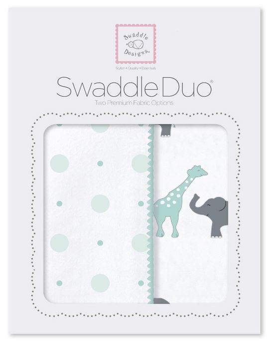 Swaddle Designs Swaddle Duo Circus Fun Seacrystal