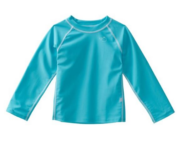 I play UPF 50 Long Sleeve Rashguard Aqua (24mo)