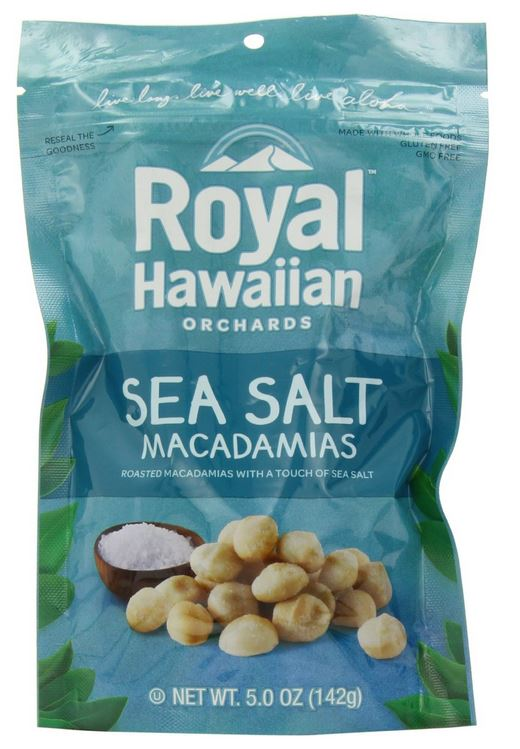 Royal Hawaiian Sea Salt Macadamias nuts (5.0oz., 142g)