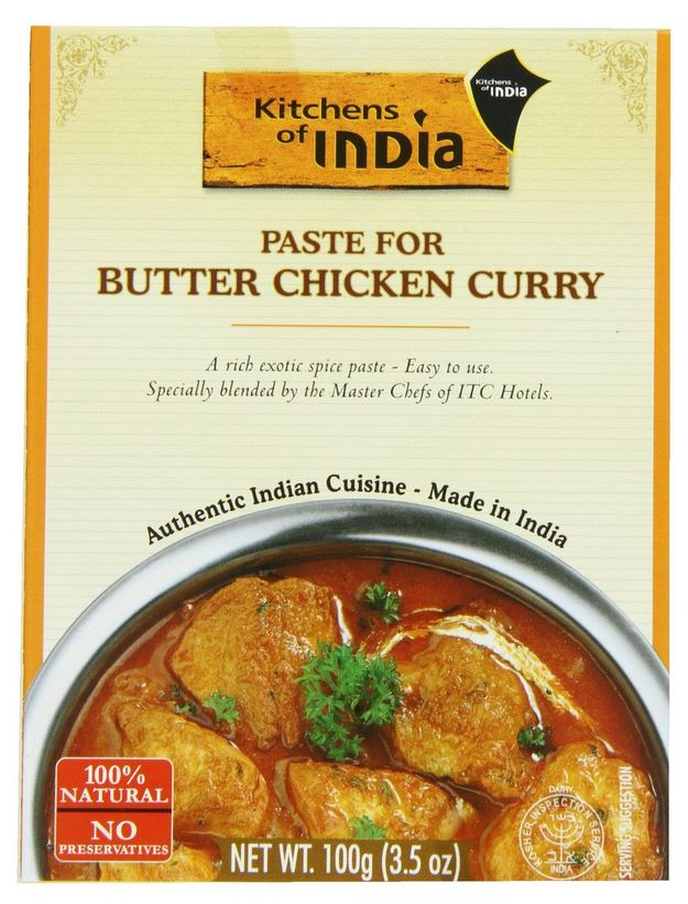 Kitchens of India Butter Chicken Curry Paste (3.5oz., 100g)