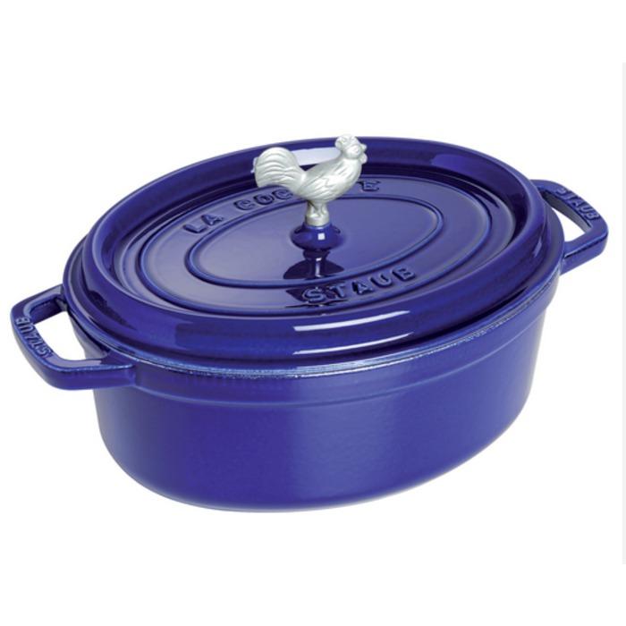 Staub Coq Au Vin Cocottes, Dark Blue, 5.75-qt