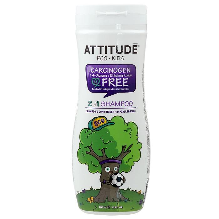 ATTITUDE ECO-KIDS Shampoo 2 in 1 (355 ml, 12 oz)