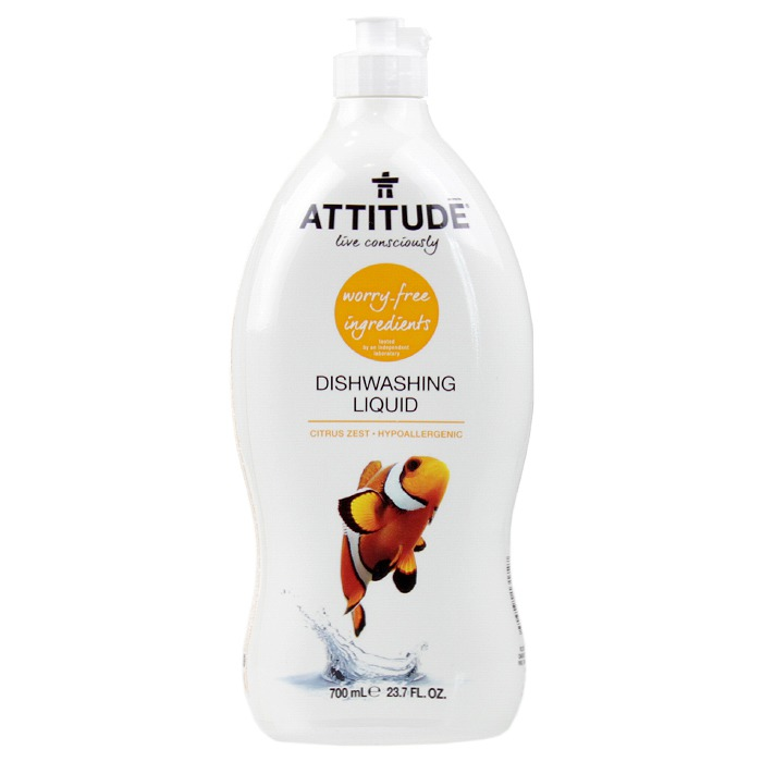 ATTITUDE Dishwashing Liquid: Citrus Zest (700 ml, 23.7 oz)