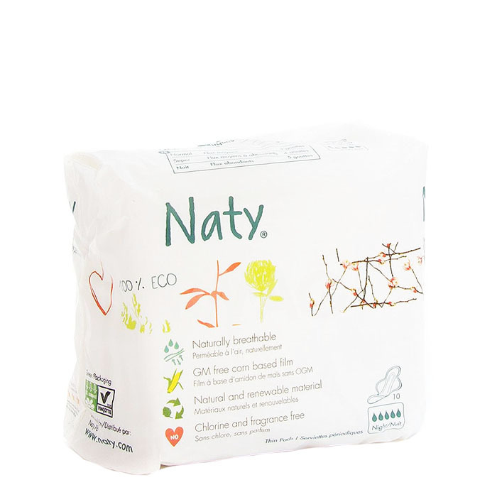 Naty Natural Thin Pads, Night(10 ct)