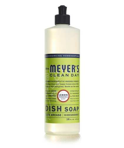 Mrs. Meyer's Clean Day Lemon Verbena Liquid Dish Soap (16fl oz.)