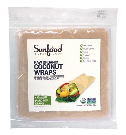 Sunfood Raw Organic Coconut Wraps