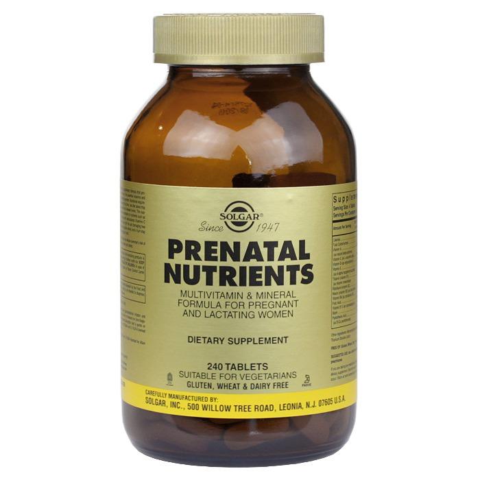 Solgar Prenatal Nutrients (240 Tablets)