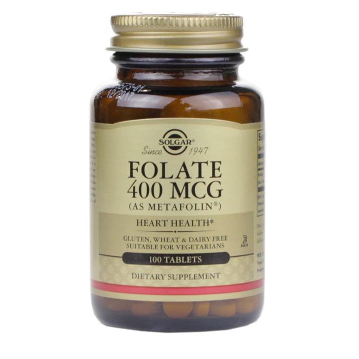 Solgar Folate 400 mcg (as Metafolin) (100 Tablets)