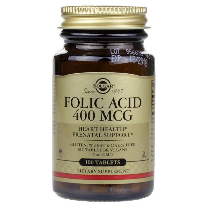 Solgar Folic Acid 400 mcg (100 Tablets)