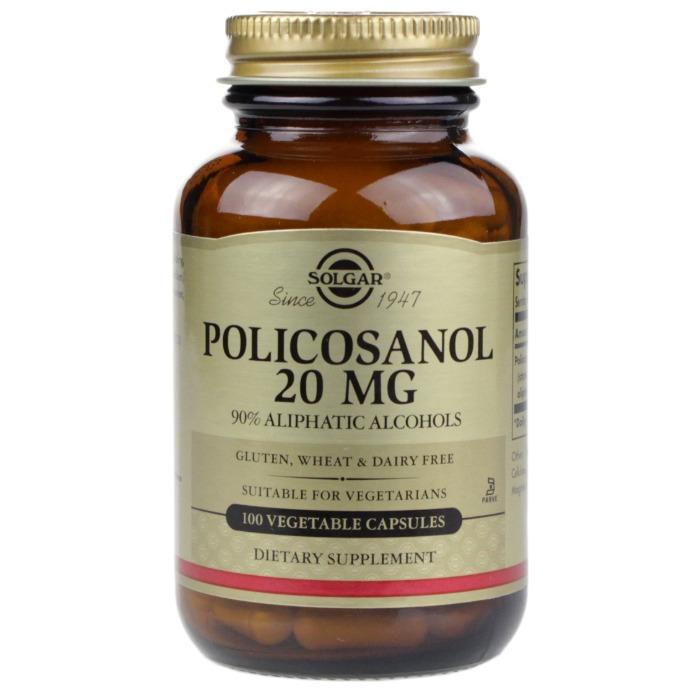 Solgar POLICOSANOL 20 mg (100 Vegetable Capsules)