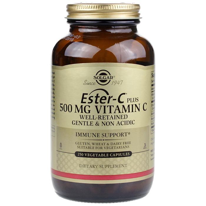 Solgar Ester-C Plus 500mg Vitamin C (250 Veg Caps)