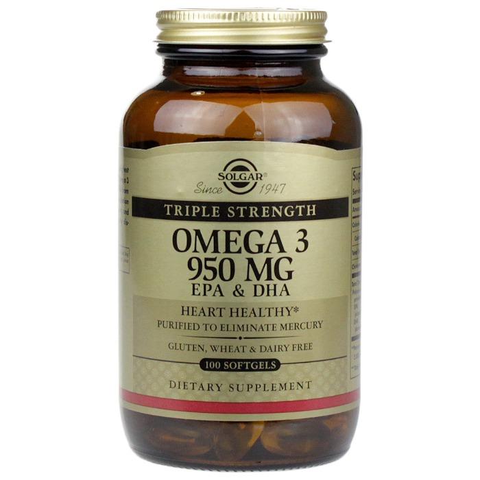 Solgar Triple Strength Omega-3 950 mg (100 Softgels)